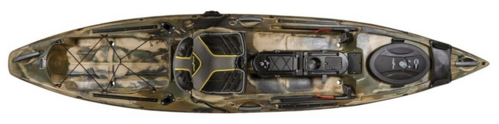 Ocean Kayak Trident 11 Angler Brown Camo Fishing Kayak
