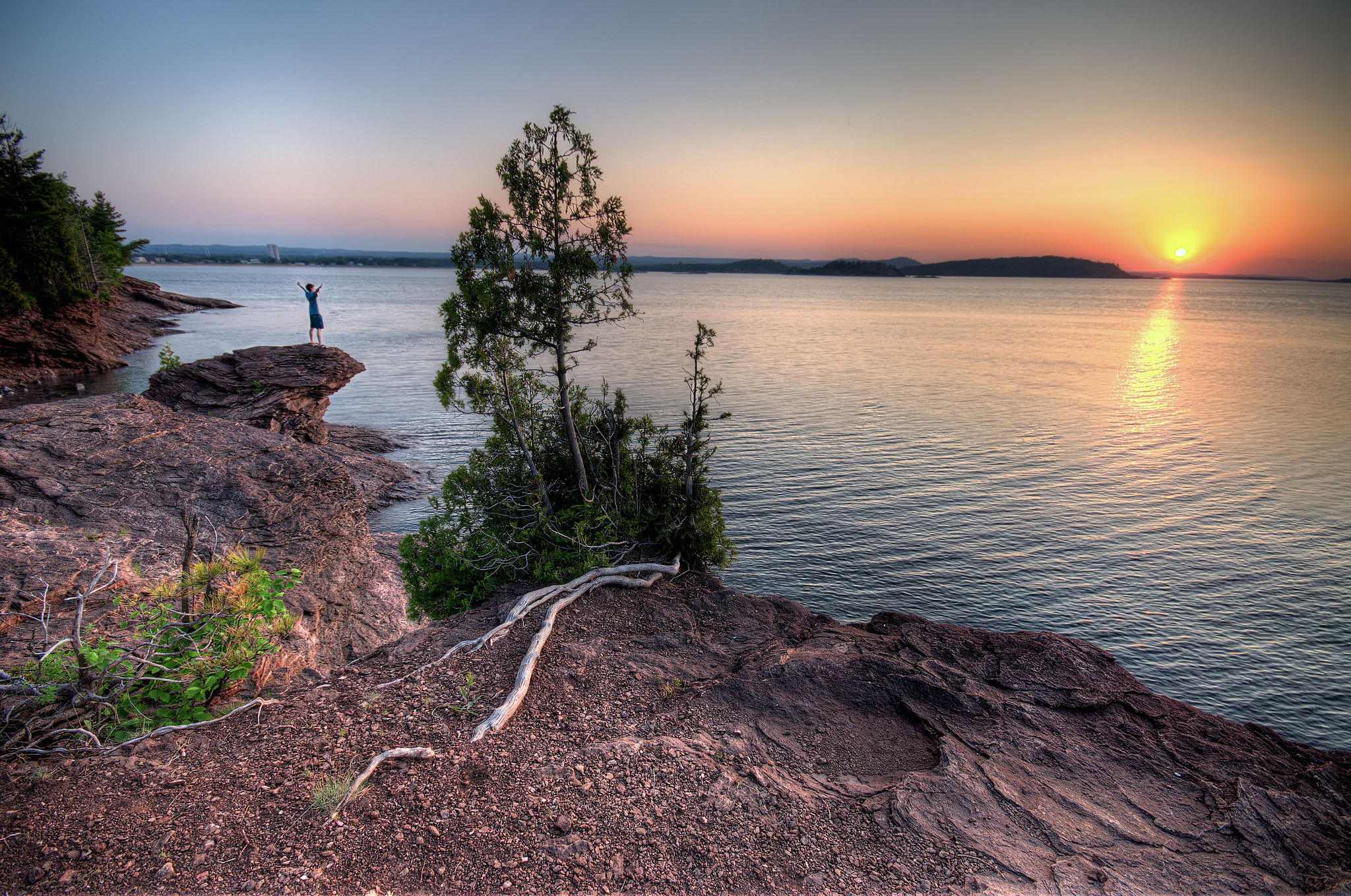 Lake Superior at sunset