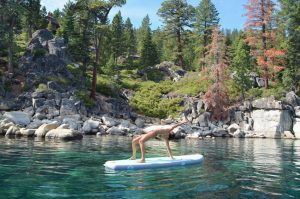 ISLE 10'4 Airtech Yoga Inflatable Stand Up Paddle Board - yoga pose