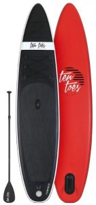 Ten Toes 12' Globetrotter Inflatable Stand Up Paddle Board - Black Red color