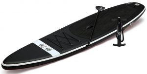 Ten Toes 12' Globetrotter Inflatable Stand Up Paddle Board - Black top and Red bottom colors