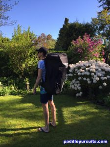 Thurso Surf Waterwalker paddleboard - large backpack to carry the SUP paddle pump